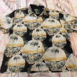 Other - Jamaica Jaxx Hawaiian Floral Button Down Shirt